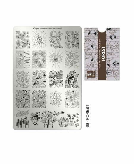 Piastra Stamping Moyra® 69 - Forest - 9,5cm x 14,5cm