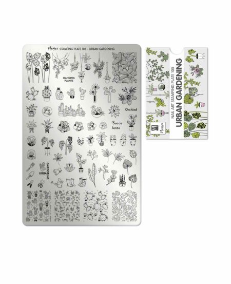 Piastra Stamping Moyra® 105 - Urban Gardening - 9,5cm x 14,5cm