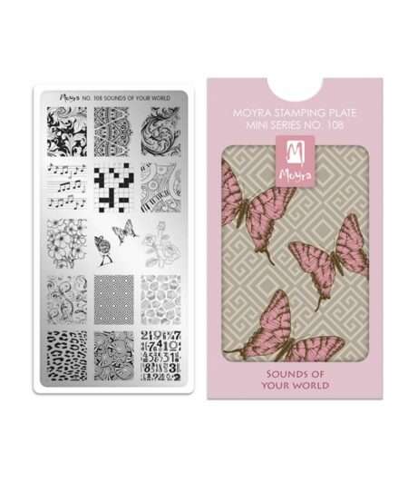 Mini Piastra Stamping Moyra® 108 - Sounds of Your World - 6cm x 12cm